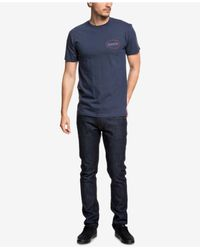 Quiksilver - Blue Live On The Edge Logo Graphic T-shirt for Men - Lyst