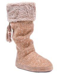 Muk Luks - Brown Women's Winona Boot Slippers - Lyst