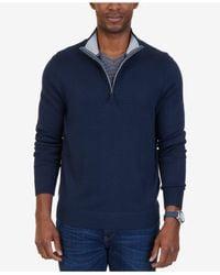 Nautica - Blue Quarter-zip Pullover Sweater for Men - Lyst