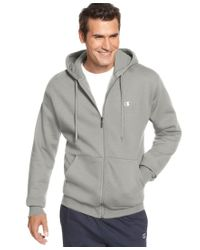 Champion | Gray Men's Fleece Full-zip Hoodie for Men | Lyst