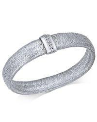 Macy's - Metallic Diamond Woven Mesh Bracelet (1/8 Ct. T.w.) In Sterling Silver - Lyst