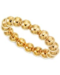 Signature Gold - Metallic Beaded Ring In 14k Gold - Lyst