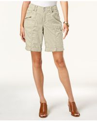 Style & Co. - Natural Cuffed Cargo Shorts, Created For Macy's - Lyst