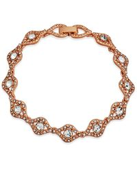 Charter Club | Multicolor Rose Gold-tone Crystal Link Bracelet | Lyst