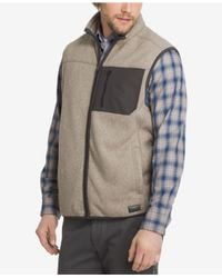 G.H. Bass & Co. - Gray Men's Zip Fleece Vest for Men - Lyst