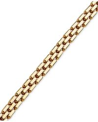 Macy's - Metallic 3 Row Link Collar Necklace In 14k Gold - Lyst
