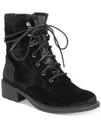 Circus by Sam Edelman | Black Dawson Lace-up Booties | Lyst