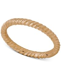 Macy's | Metallic Twist-style Band In 18k Gold | Lyst