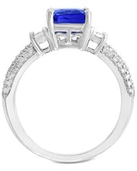 Effy Collection - Multicolor Gemstone Bridal By Effy® Tanzanite (2-1/10 Ct. T.w.) & Diamond (3/8 Ct. T.w.) Ring In 18k White Gold - Lyst