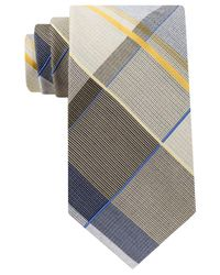 Michael Kors | Yellow Men's Serenity Plaid Tie for Men | Lyst