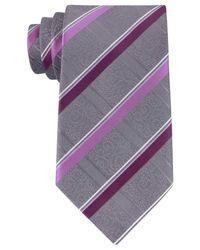 Geoffrey Beene | Purple Men's Stressless Stripe Tie for Men | Lyst