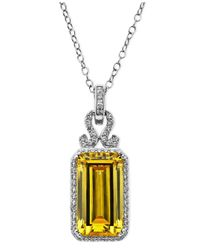 Arabella | Yellow And White Swarovski Zirconia Pendant (19-3/4 Ct. T.W.) | Lyst