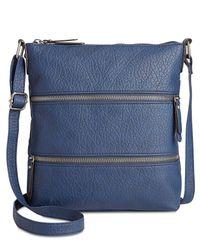 Style & Co. | Blue Vyniisha Multi Zip Crossbody | Lyst