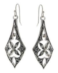 2028 | Metallic Earrings, A Macy's Exclusive Style, Silver-tone Linear Drop Earrings, A Macy's Exclusive Style | Lyst