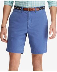 "Polo Ralph Lauren - Blue Stretch Classic-fit 9-1/4"" Shorts for Men - Lyst"