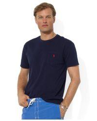 Polo Ralph Lauren | Blue Men's Standard Fit Pocket T-shirt for Men | Lyst
