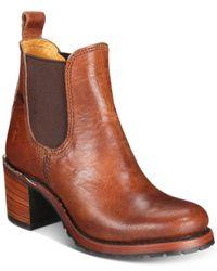 Frye - Brown Women's Sabrina Chelsea Boots - Lyst