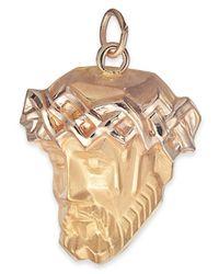 Macy's - Metallic Christ Head Pendant In 14k Gold - Lyst