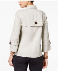 Style & Co. - Multicolor Double-breast Swing Jacket, Created For Macy's - Lyst