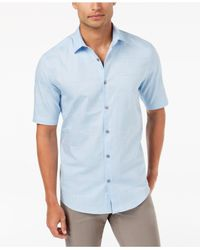 Alfani - Blue Men's Layton Fine Striped Shirt for Men - Lyst