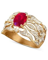 Effy Collection - Metallic Gemma By Effy Ruby (1-1/2 Ct. T.w.) And Diamond (1/3 Ct. T.w.) Ring In 14k Gold - Lyst
