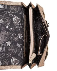 Steve Madden - Metallic Odette Appliqué Medium Flap Crossbody - Lyst
