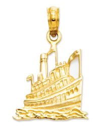 Macy's   Metallic 14k Gold Charm, Cruise Ship Charm   Lyst