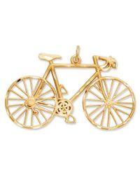Macy's - Metallic 14k Gold Charm, Diamond-cut Bicycle Charm - Lyst