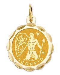 Macy's - Metallic 14k Gold Charm, Engraveable Scorpio Zodiac Disc Charm - Lyst