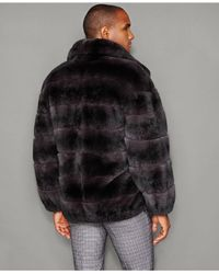 The Fur Vault - Black Rabbit Fur Bomber Jacket for Men - Lyst