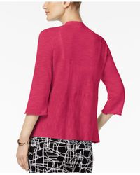 Alfani Pink Petite Open-front Cardigan, Created For Macy's