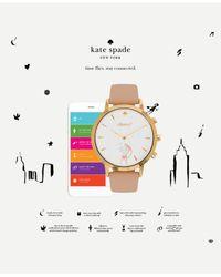 Kate Spade - Multicolor Women's Hybrid Metro Grand Vachetta Leather Strap Smart Watch 39mm Kst23102 - Lyst