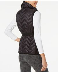 CALVIN KLEIN 205W39NYC - Black Belted Quilted Vest - Lyst