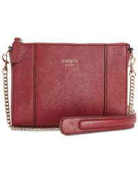 Guess - Red Kamryn Mini Convertible Chain Strap Crossbody - Lyst