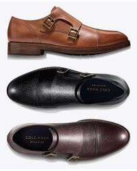 Cole Haan - Black Henry Grand Double-monk Strap Oxfords Created For Macy's for Men - Lyst