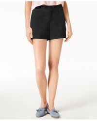 """Maison Jules - Black 6"""" Shorts, Created For Macy's - Lyst"""