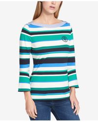 Tommy Hilfiger - Multicolor Boat-neck Top - Lyst