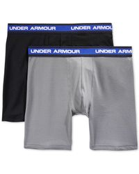 Under Armour - Gray Performance Mesh Boxer Briefs 2-pack for Men - Lyst