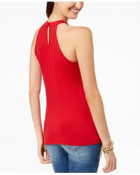 INC International Concepts - Red I.n.c. Cutout-neckline Sleeveless Top, Created For Macy's - Lyst