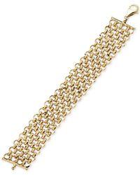 Macy's - Metallic Interlocking Chain Bracelet In 14k Gold - Lyst
