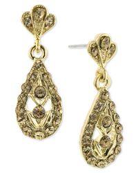 2028 | Metallic Earrings, Gold-tone Light Colorado Stone Teardrop Earrings | Lyst