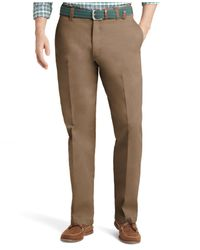 Izod | Brown Saltwater Classic-fit Flat Front Chino Pants for Men | Lyst