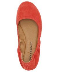 Lucky Brand | Multicolor Emmie Nubuck Ballet Flats | Lyst
