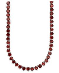 Macy's - Multicolor Sterling Silver Necklace, Amethyst Necklace (30 Ct. T.w.) - Lyst