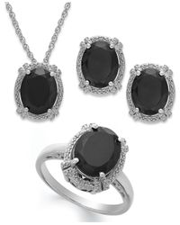 Macy's - Multicolor Onyx (8-3/4 Ct. T.w.)and Diamond Accent Jewelry Set In Sterling Silver - Lyst