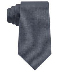 Geoffrey Beene - Gray Bias Stripe Solid Tie for Men - Lyst