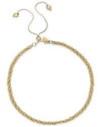 Macy's - Metallic Twisted Rope Adjustable Friendship Bracelet In 14k Gold - Lyst