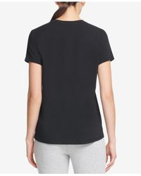 DKNY - Black Sport Logo T-shirt, Created For Macy's - Lyst