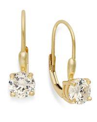 Giani Bernini | Metallic 18k Gold Over Sterling Silver Earrings, Cubic Zirconia Leverback Earrings (1-1/2 Ct. T.w.) | Lyst