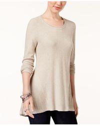 Style & Co. | Natural Peplum-back Tunic Sweater | Lyst